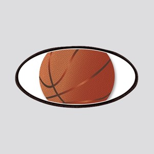 Basketball Over White Background Patch
