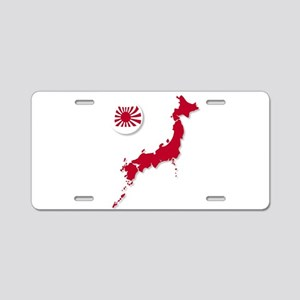 Japanese Flag Sphere And Ma Aluminum License Plate