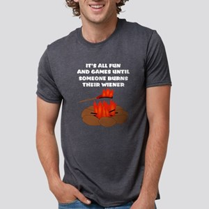 Someone Burns Wiener Women's Dark T-Shirt