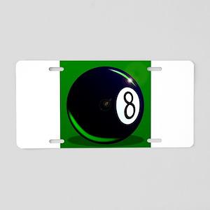 Eight Ball Aluminum License Plate