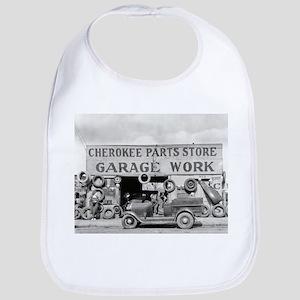 Cherokee Parts Store Vintage Garage Bib