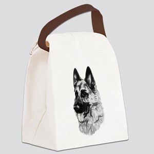 German Dog Canvas Lunch Bag