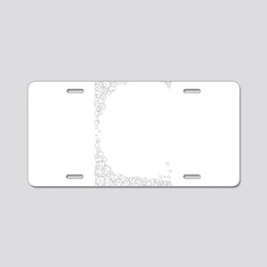 Thin Line Circle Border Aluminum License Plate