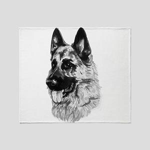 German Dog Throw Blanket