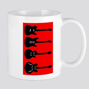 Silhouette Guitar Collection Mugs