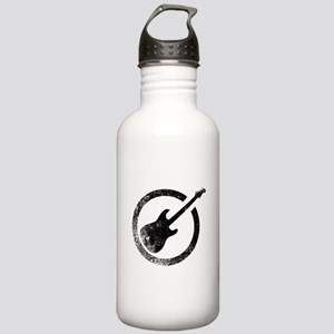 Black Guitar Ink Stamp Stainless Water Bottle 1.0L