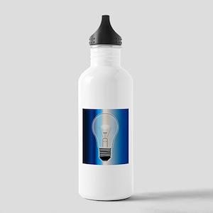 Blue Light Bulb Stainless Water Bottle 1.0L