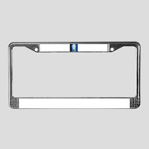 Blue Light Bulb License Plate Frame