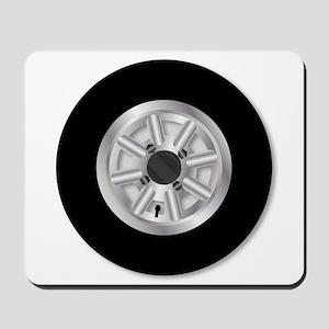 Fast Mini Car Wheel Mousepad