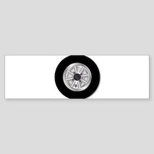 Fast Mini Car Wheel Bumper Sticker