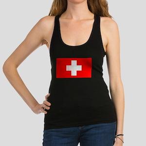 Swiss National Flag Racerback Tank Top