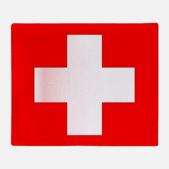 Swiss National Flag Throw Blanket