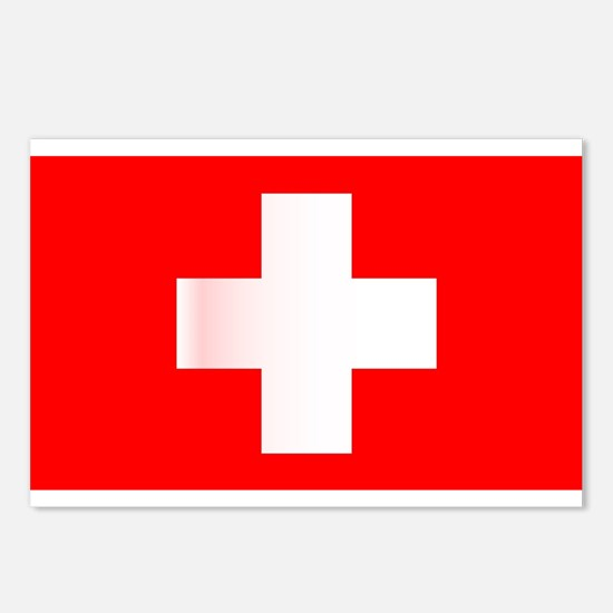 Swiss National Flag Postcards (Package of 8)