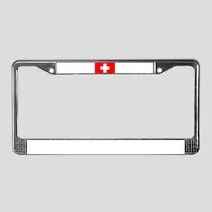 Swiss National Flag License Plate Frame