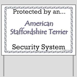 Am Staff Security Yard Sign