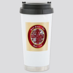 Saint Georges Day Butto Stainless Steel Travel Mug