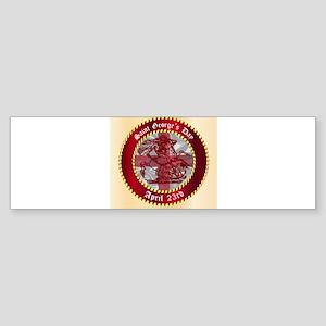 Saint Georges Day Button Bumper Sticker