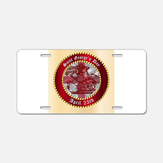 Saint Georges Day Button Aluminum License Plate