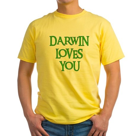 Darwin Loves You Yellow T-Shirt