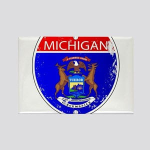 Michigan Flag Icons As Interstate Sign Magnets