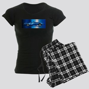 Sleak British Sports Car Women's Dark Pajamas