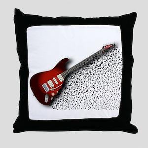 Musical Guitar Background Throw Pillow