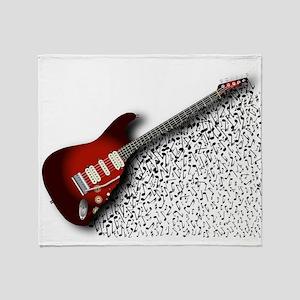 Musical Guitar Background Throw Blanket