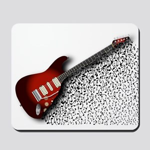 Musical Guitar Background Mousepad