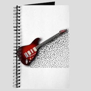 Musical Guitar Background Journal