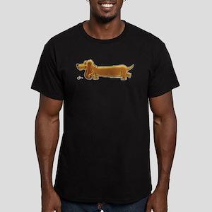 NEW! Weiner Dog Men's Fitted T-Shirt (dark)