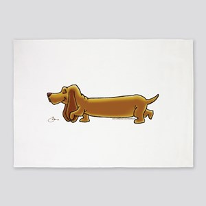 NEW! Weiner Dog 5'x7'Area Rug