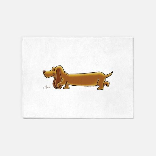 NEW! Weiner Dog 5'x7'Area Rug