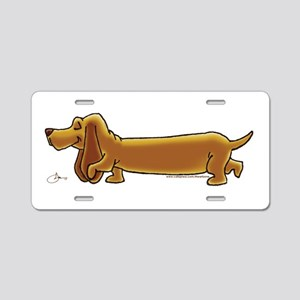 NEW! Weiner Dog Aluminum License Plate