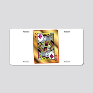 Gold King Of Diamonds Aluminum License Plate
