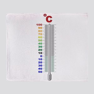 A Temperature Thermometer Throw Blanket