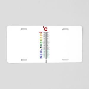 A Temperature Thermometer Aluminum License Plate
