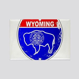 Wyoming Flag Icons As Interstate Sign Magnets