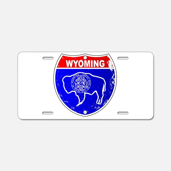 Wyoming Flag Icons As Inter Aluminum License Plate