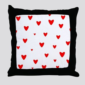 Red Hearts Background Throw Pillow
