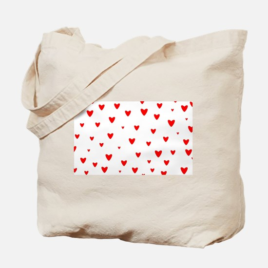 Red Hearts Background Tote Bag