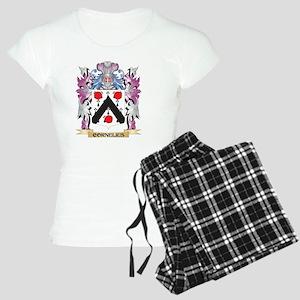 Cornelius Coat of Arms (Fam Women's Light Pajamas