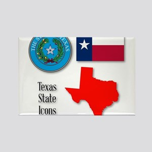 Texas State Icons Magnets
