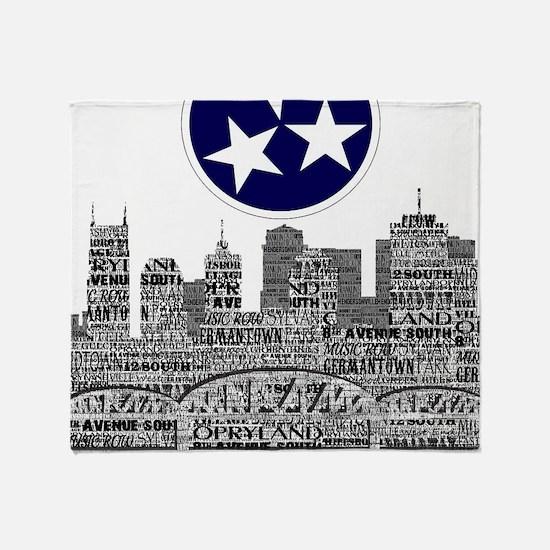 Funny Nashville Throw Blanket