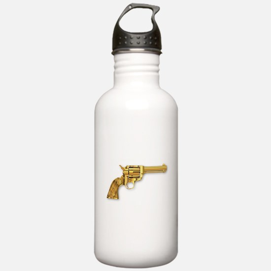 Golden Six Gun Sports Water Bottle