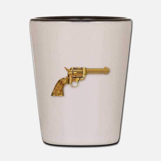 Golden Six Gun Shot Glass