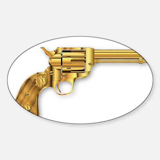 Golden Six Gun Decal