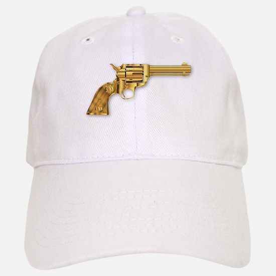 Golden Six Gun Baseball Baseball Cap