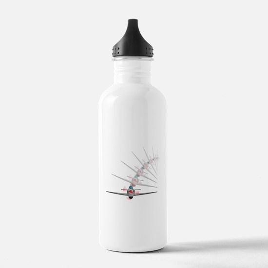 Old Fighter Plane Water Bottle