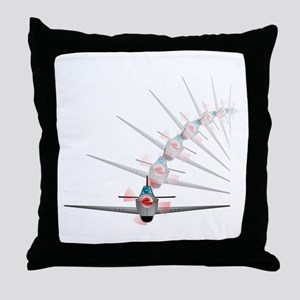 Old Fighter Plane Throw Pillow