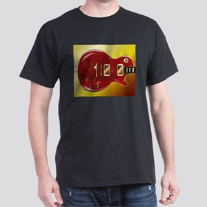 Red Grained Guitar T-Shirt